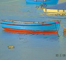 Boats At Mousehole Harbour by lynn carter