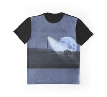 Across The Sea A Pale Moon Rises Graphic T-Shirt
