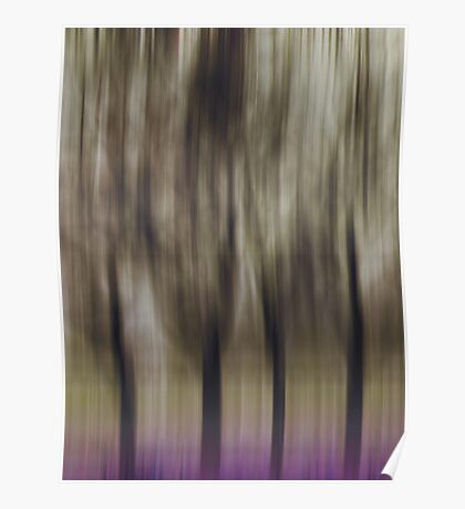 Four Trees, Budapest (purple & brown) Poster