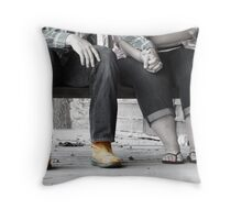 Country Love Story Throw Pillow