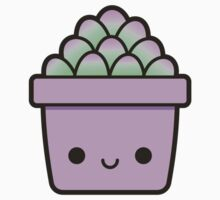 Succulent in cute pot Kids Tee