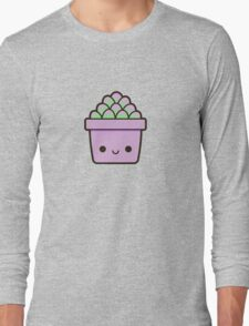Succulent in cute pot Long Sleeve T-Shirt