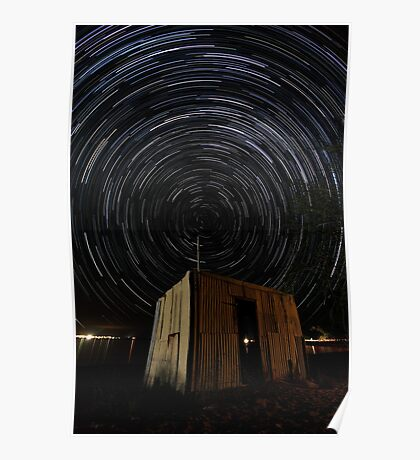 Pump Shed Star Trail Poster