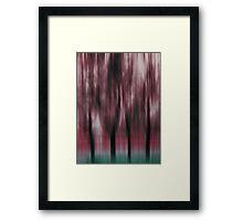 Four Trees, Budapest (ruby & green)  Framed Print