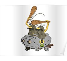 Captain Caveman Car Poster