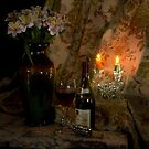 Rhone Wine and 2 Candles by FrankSchmidt
