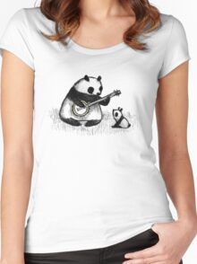 Banjo Panda Women's Fitted Scoop T-Shirt