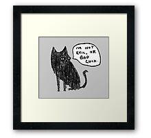 Black Cats Aren't Evil Framed Print