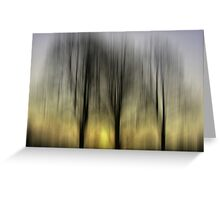 Three Trees in Motion - yellow Greeting Card
