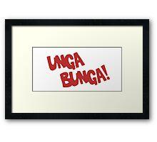 CAVEMAN Unga Bunga! Framed Print