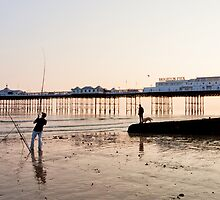 Fishing by Brighton Pier by Matthew Jones