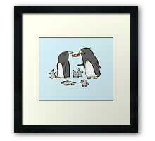 Penguin Family Framed Print