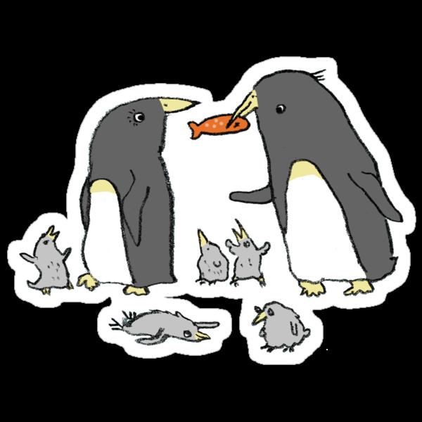 Penguin Family by Sophie Corrigan