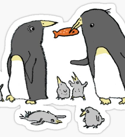 Penguin Family Sticker