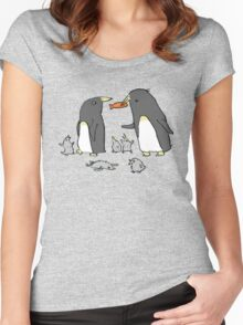 Penguin Family Women's Fitted Scoop T-Shirt