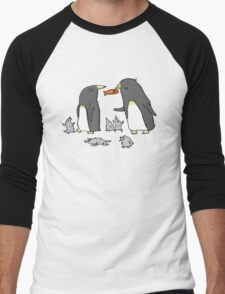 Penguin Family Men's Baseball ¾ T-Shirt