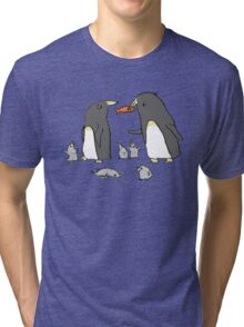 Penguin Family Tri-blend T-Shirt