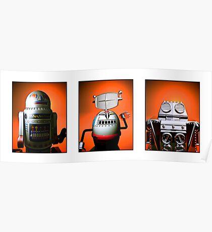 Retro Toy Robot Lineup 01 Poster