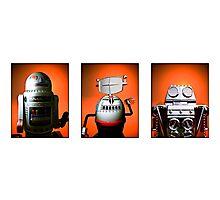 Retro Toy Robot Lineup 01 Photographic Print