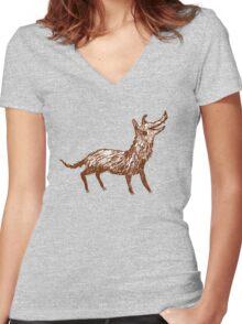 Mongrel Women's Fitted V-Neck T-Shirt