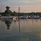 Sunset at RC's Marina by Sandra Lee Woods