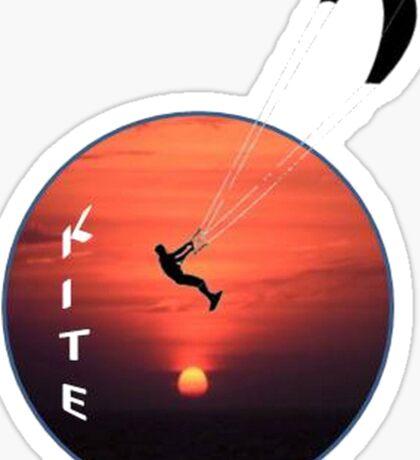 Kitesurfing Silhouette Sticker