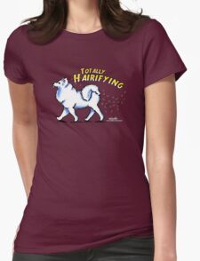 Samoyed :: Totally Hairifying Womens Fitted T-Shirt