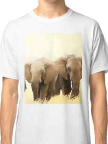 Wild nature - elephants Classic T-Shirt