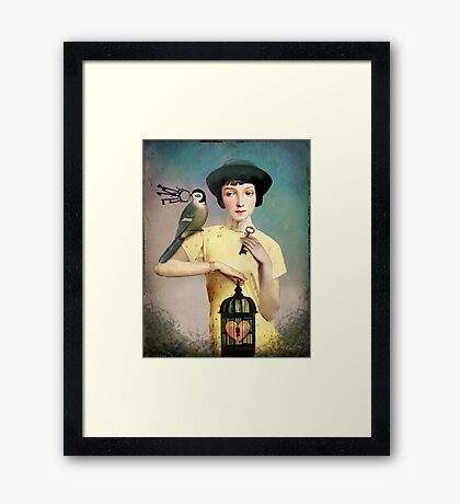 The perfect key Framed Print