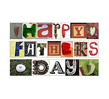 Happy Fathers Day Card Photographic Print