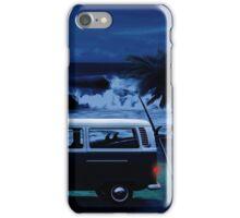 Furgoneta surf noche iPhone Case/Skin
