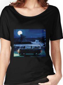Furgoneta surf noche Women's Relaxed Fit T-Shirt