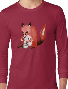 Drumming Fox Long Sleeve T-Shirt