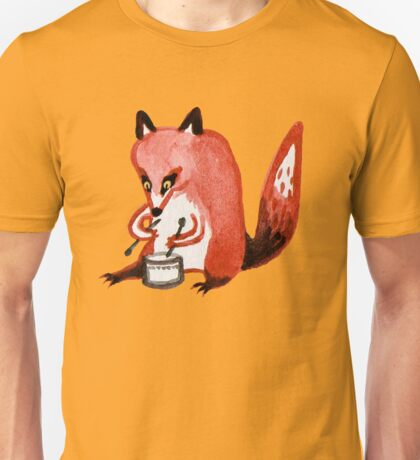 Drumming Fox Unisex T-Shirt