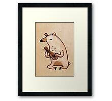 Ukulele Bear Framed Print