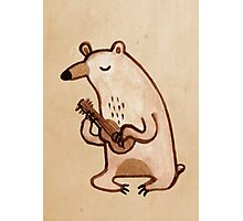 Ukulele Bear Photographic Print