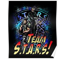 TEAM STARS! MVC3 edition! Albert, WESKER, Jill VALENTINE  and Chris REDFIELD Poster