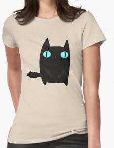 Fat Black Cat Womens Fitted T-Shirt
