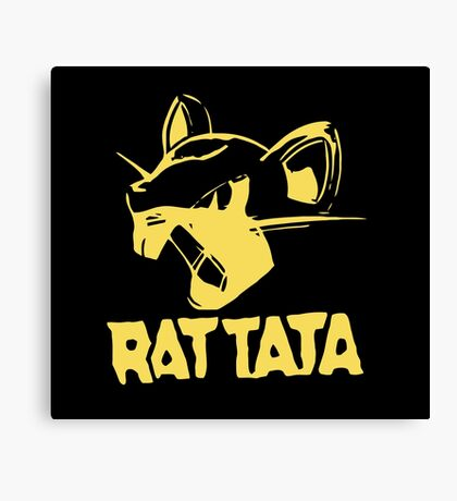 RAT TATA - RATATAT Music Band Mashup Canvas Print