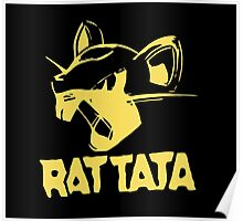 RAT TATA - RATATAT Music Band Mashup Poster