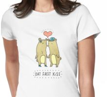 Dat First Kiss Womens Fitted T-Shirt