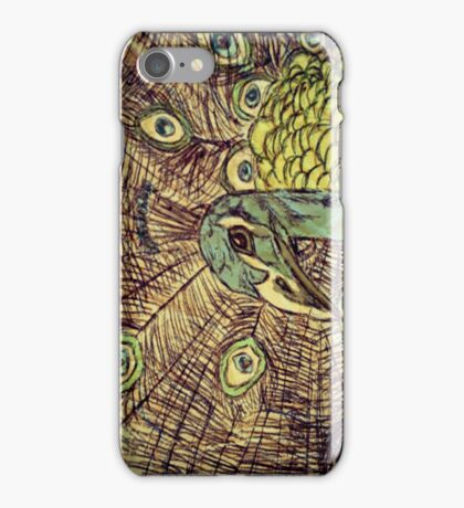 Illustrated Peacock iPhone Case/Skin