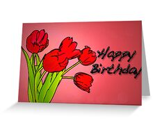 Red Tulips Greeting Card