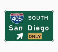 San Diego, CA Road Sign, USA One Piece - Short Sleeve
