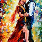 ROMANTIC TANGO- OIL PAINTING BY LEONID AFREMOV by Leonid  Afremov