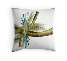Feathers and Twist (and an Eye, maybe??) a.k.a. Abstract_120612/2 Throw Pillow
