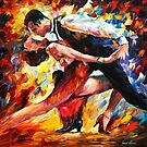 TANGO OF PASSION- OIL PAINTING BY LEONID AFREMOV by Leonid  Afremov