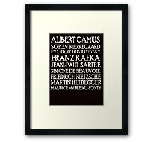 Existentialist Classic St2 Framed Print
