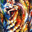 PASSIONATE  FLAMENCO- OIL PAINTING BY LEONID AFREMOV by Leonid  Afremov