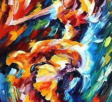 IN THE ZONE- OIL PAINTING BY LEONID AFREMOV by Leonid  Afremov